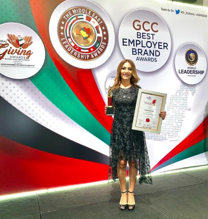 """صورة كارن البستاني تفوز بـ""""جائزة أفضل قياديّة في الشرق الأوسط"""" في دبي"""