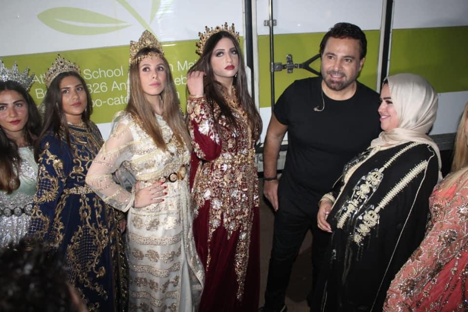 صورة بحضور فارس الغناء عاصي الحلاني تكريم الزيانة المغربية سعاد عياش