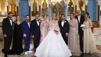 صورة زفاف نيكولا بسام نعمه بحضور نخبة من النجوم