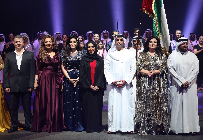 صورة نهلة الفهد : اوبريت الحضن العربي رسالة محبة وسلام من الامارات